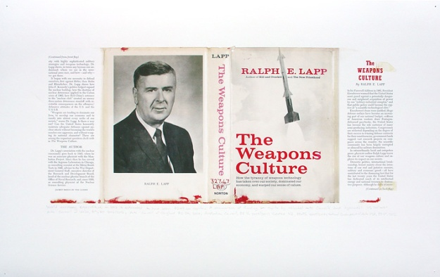 'withdrawn' 2013 ex library book and digital print, book size 13 x 22 x 14 cm, digital print 39 x 61 cm.